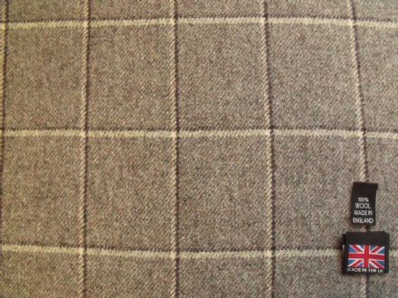 Country Tweed Shadow Windowpane Check Fabric AZ38